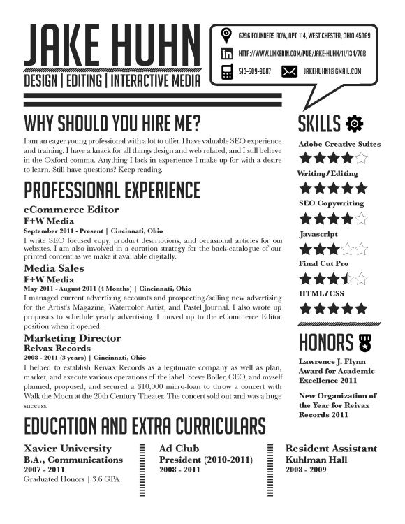 resume graphic design skills pdf